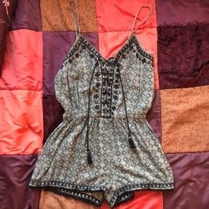 Black and Grey Boho Romper